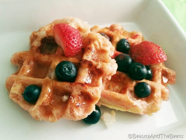 Sugar Cookie Waffle Beauty and the Beets