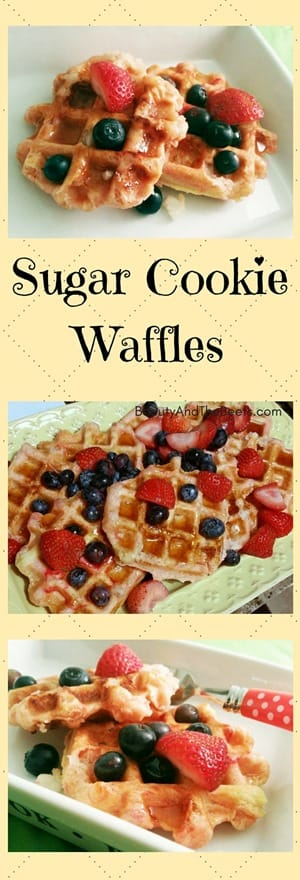 Sugar Cookie Waffles by Beauty and the Beets