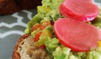 Avocado Toast with Pickled Radish