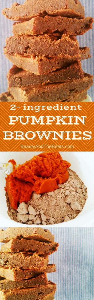 2 ingredient PUMPKIN BROWNIES by Beauty and the Beets