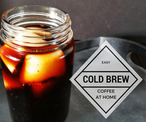 Easy Cold Brew Coffee at home by Beauty and the Beets