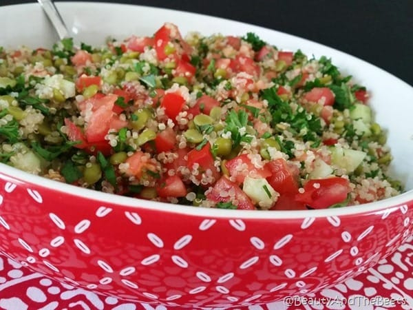 Lentil Quinoa Tabbouleh recipe Beauty and the Beets (4)