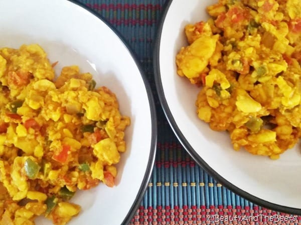 Ackee Scramble with turmeric Beauty and the Beets