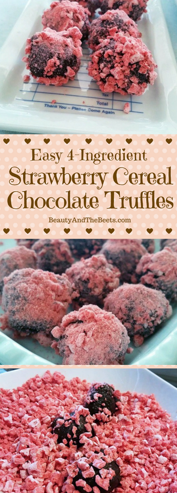 Strawberry Cereal Chocolate Truffles Beauty and the Beets