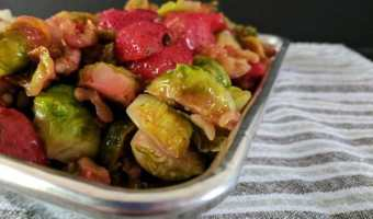 Sauteed Balsamic Strawberries and Brussels Sprouts