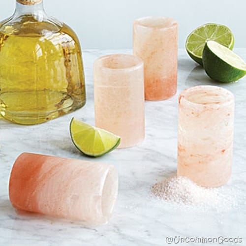 Himalayan Salt Tequila Glasses Uncommon Goods