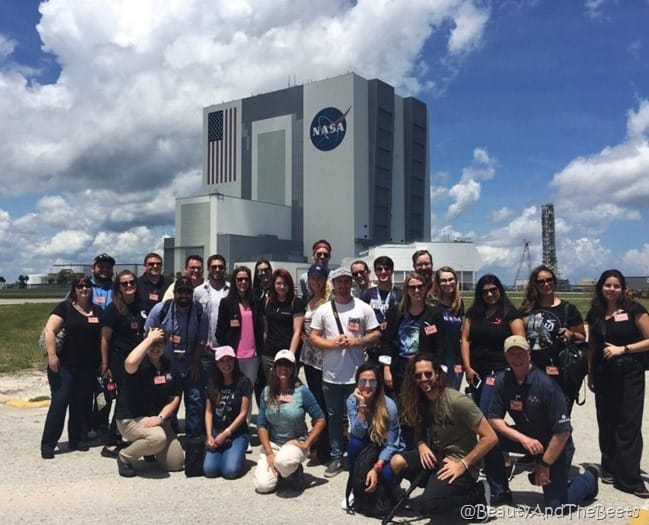 #NASAsocial #SpaceX CRS12 Kennedy Space Center group Beauty and the Beets