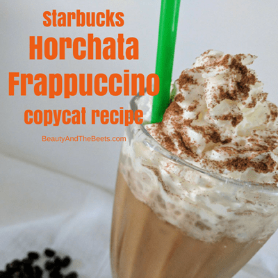 square Beauty and the Beets Starbucks Horchata Frappuccino copycat recipe