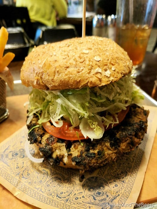 Morgan's Veggie Burger Guy Fieris American Kitchen Villages Beauty and the Beets