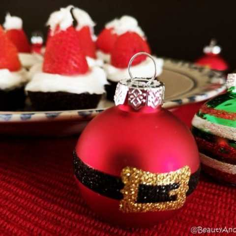 Easy to Assemble Brownie Santa Hats