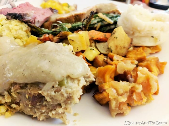 stuffing candied sweet potato Sea Pines Resort Thanksgiving Beauty and the Beets