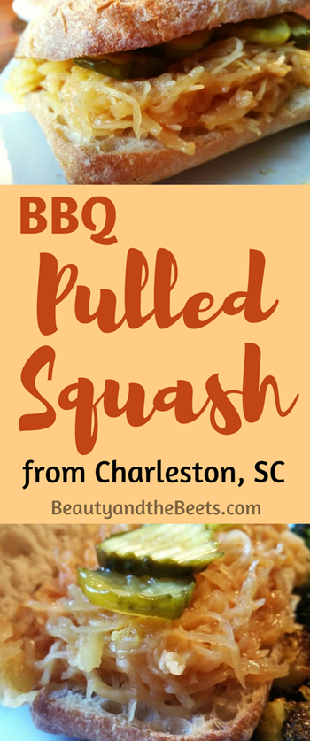 BBQ pulled squash recipe from Beauty and the Beets