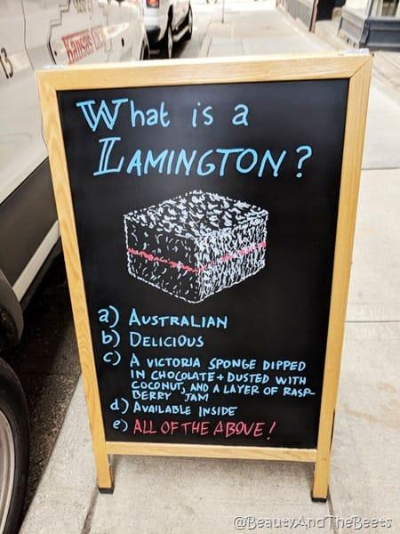 Lamington Banksia Kansas City Sandwich Board Beauty and the Beets