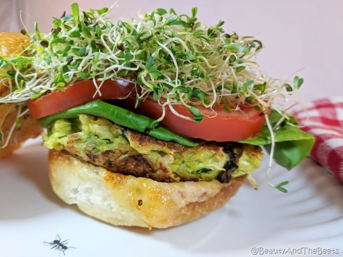 Brussels Sprouts Burgers Beauty and the Beets ready for my closeup