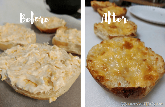 Cheesy Mayo Buns Beauty and the Beets before and after