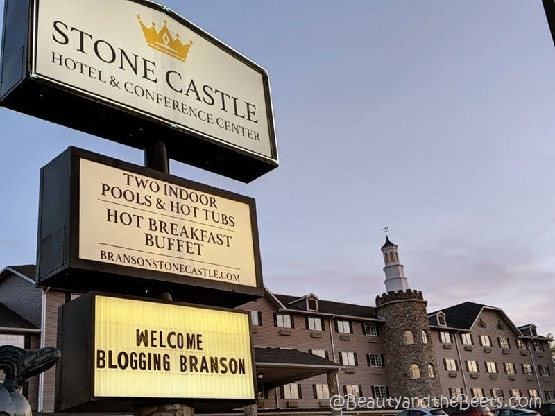 Stone Castle hotel Branson Beauty and the Beets