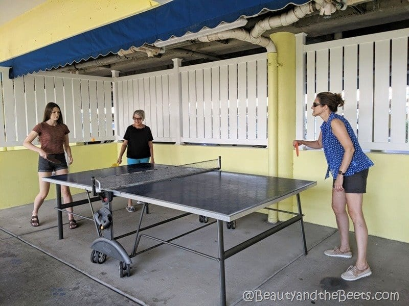 Alden Suites ping pong Beauty and the Beets