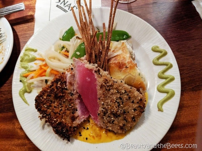St Pete Beach Snappers Wasabi Crusted Tuna Beauty and the Beets