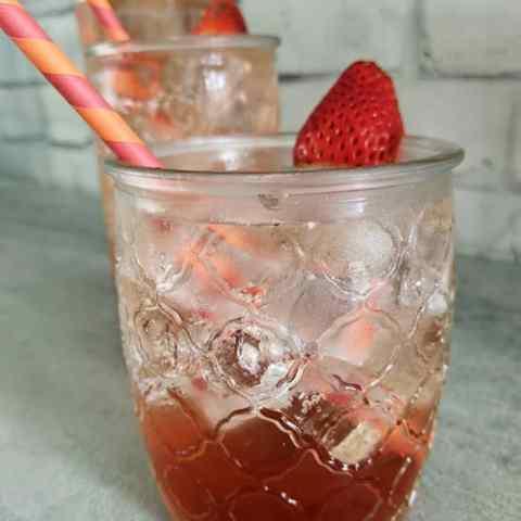 Simple Homemade Strawberry Soda