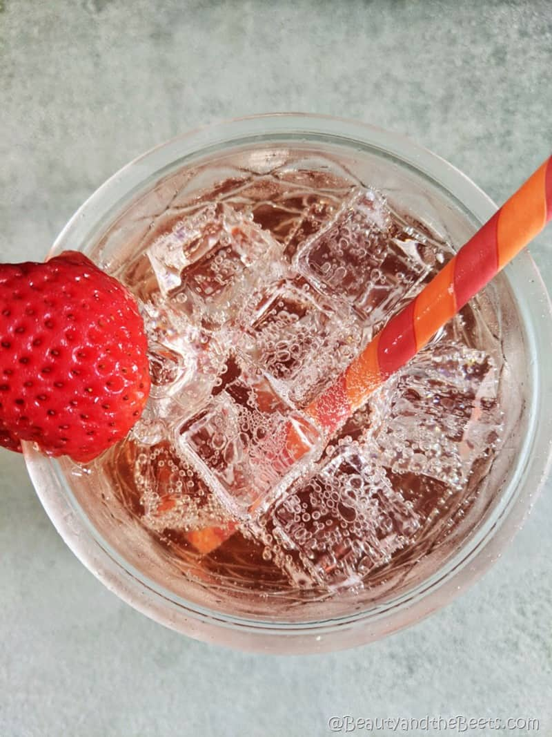 Strawberry Soda and crushed ice Beauty and the Beets