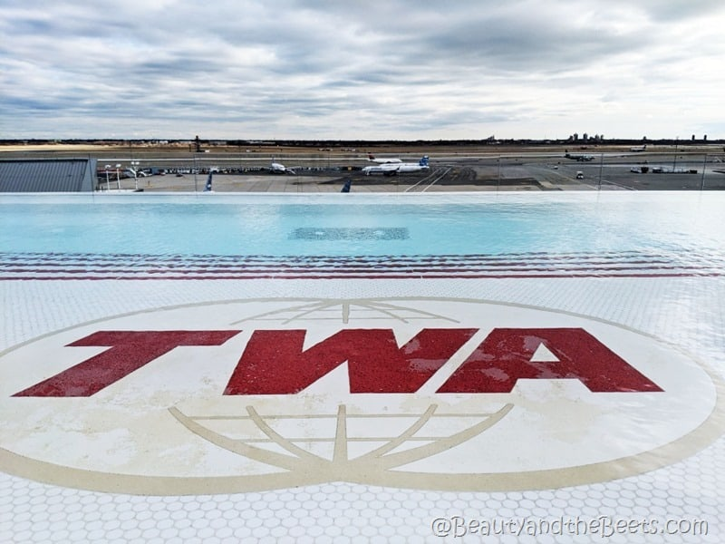 infinity pool TWA Hotel Beauty and the Beets