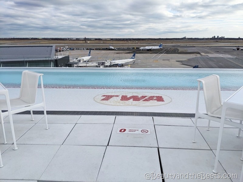 infinity pool deck TWA Hotel Beauty and the Beets
