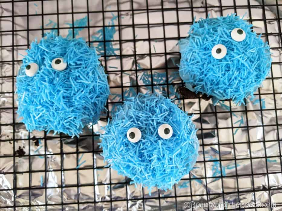 Cookie Monster Blue Cupcakes Beauty and the Beets