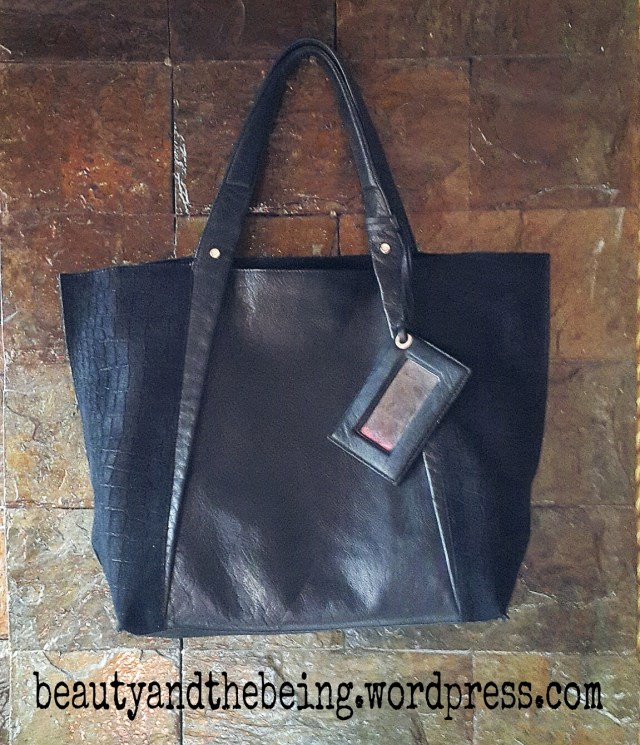 river island black leather bag