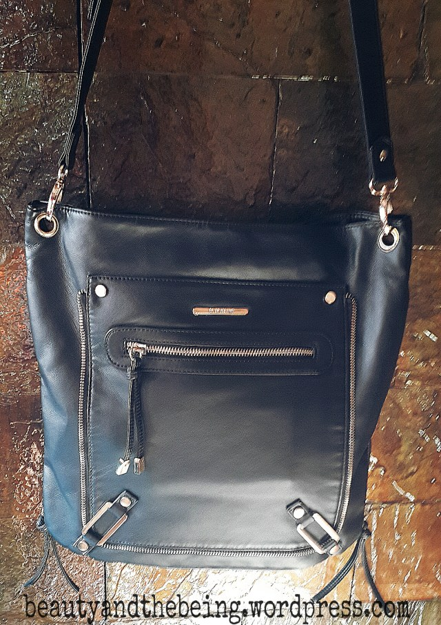 river island black sling bag