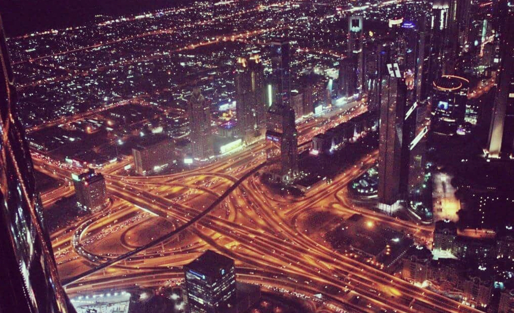Dubai City from Top of Burj Khalifa – Night View