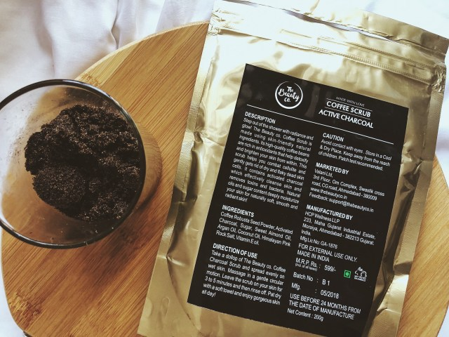 The Beauty Co. Active Charcoal Coffee Scrub | Review