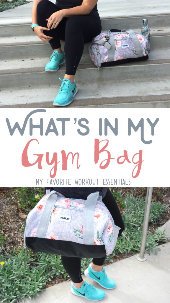 A peek into my gym bag! These are my favorite workout essentials that keep me prepared and organized at the gym. This gym bag is super cute, super functional and has a separate shoe compartment! LOVE!
