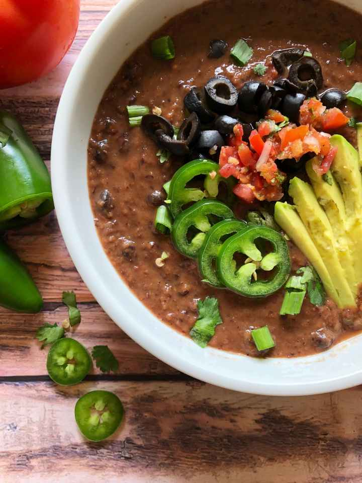 15 min black bean soup