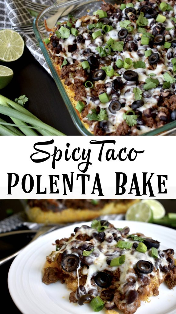 Need some meal prep inspiration? This spicy taco polenta bake is filling, healthy, delicious and super easy to make! Sure to become a family fave for meal prep! #mealprep