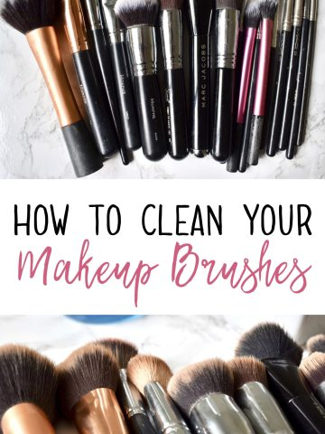 How I clean my makeup brushes quickly and easily #makeupbrushes