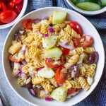 Greek Pasta Salad (Healthy, Gluten-Free, 20 Minutes)