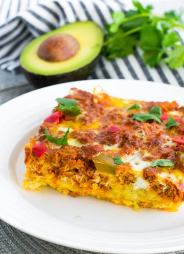chorizo hash brown bake