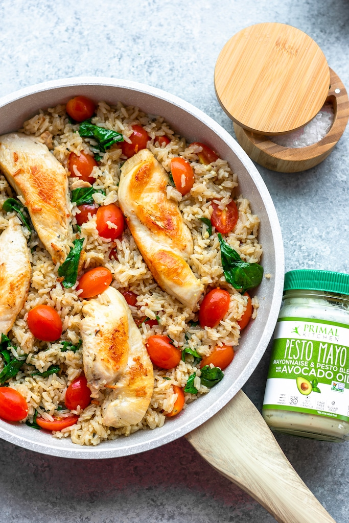 dairy free chicken and rice skillet