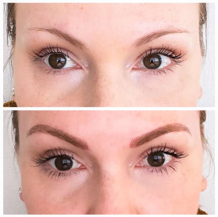 micro blading before and after results