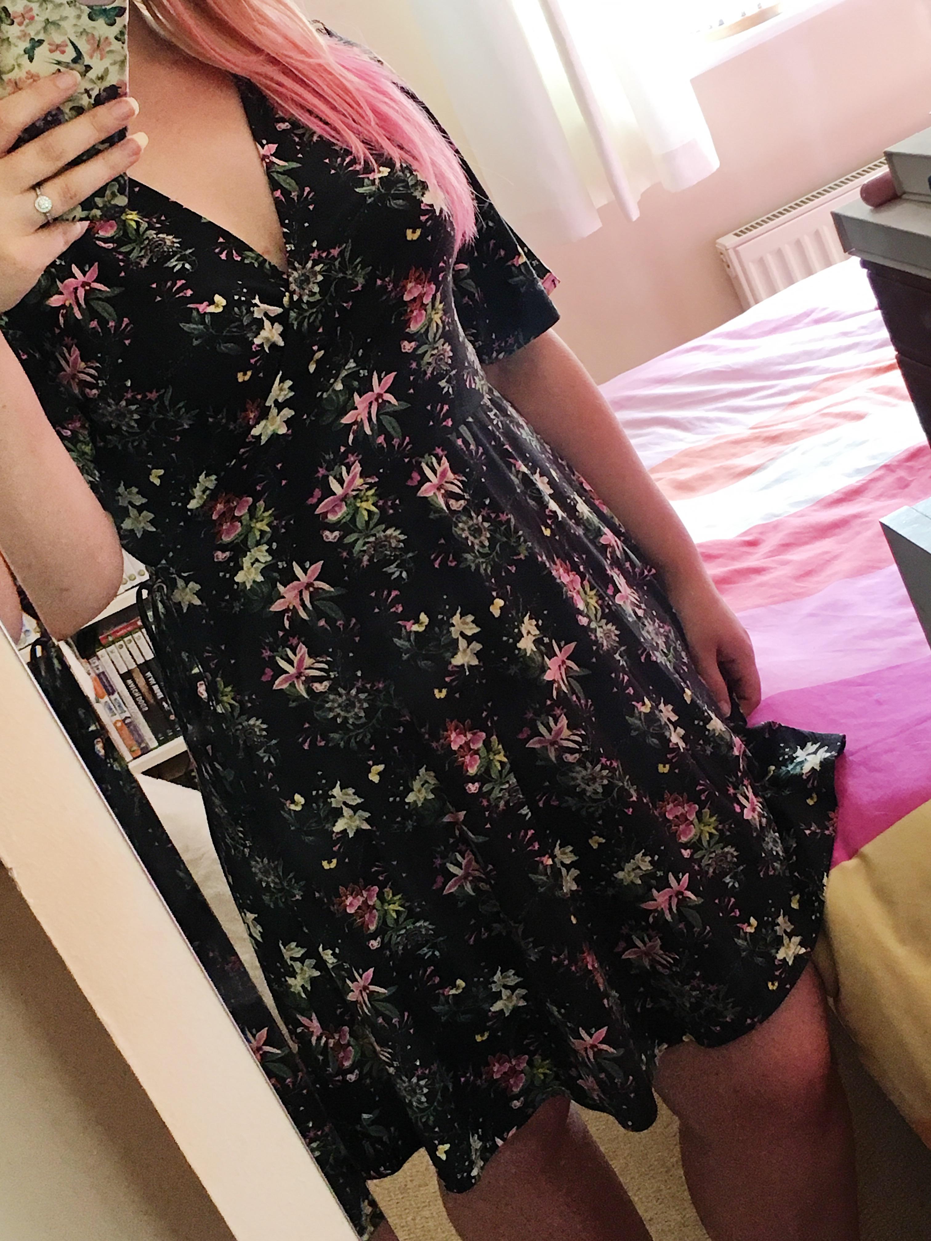 Oasis floral dress