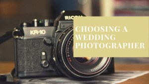 Booking Our Wedding Photographer
