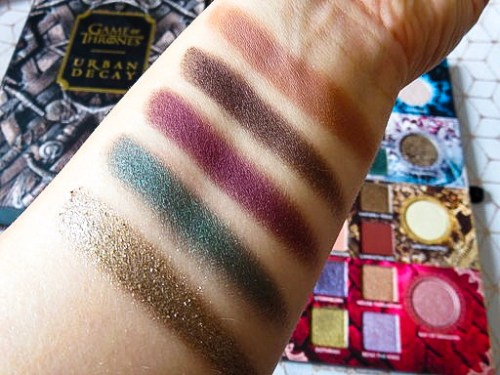Urban Decay Game of Thrones Eyeshadow swatches