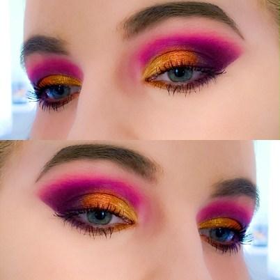 Summer Sunset makeup look