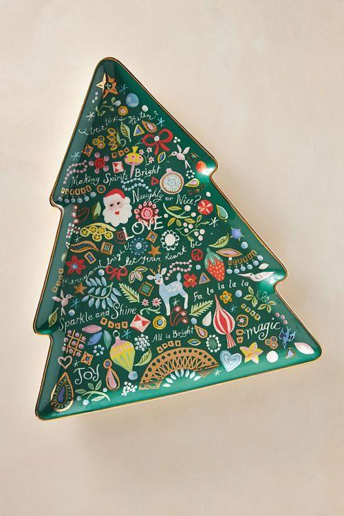 Danielle Kroll Treetops Glisten Platter