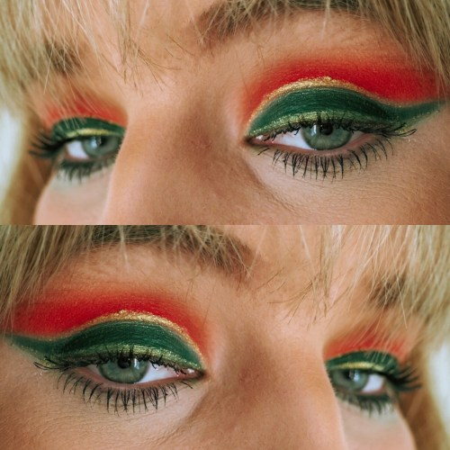 ultra-festive holiday makeup look