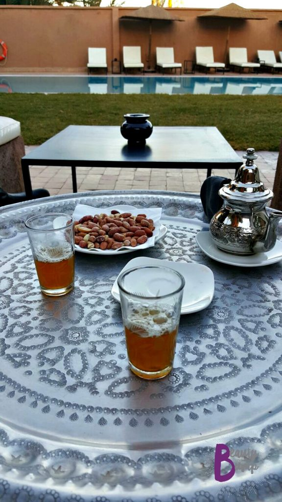 Dar Chamaa Courtyard Moroccan Mint Tea