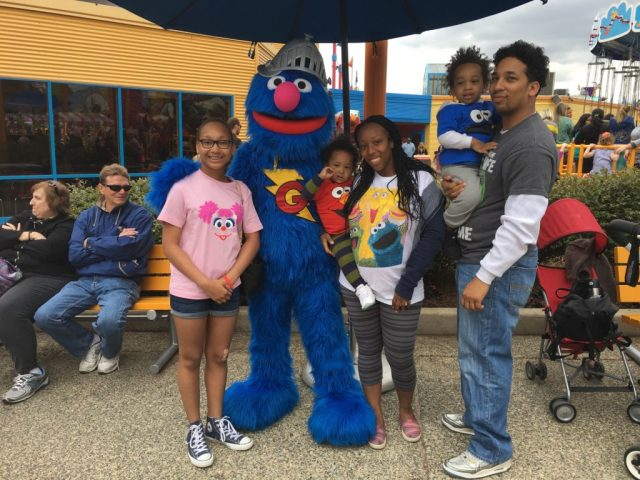 Sesame Place Family Photo with T-shirts