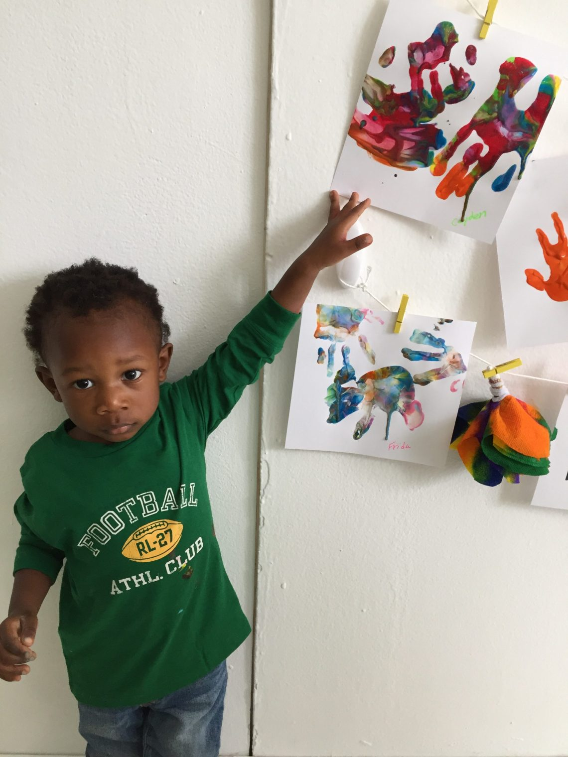 Caydens 1st finger painting