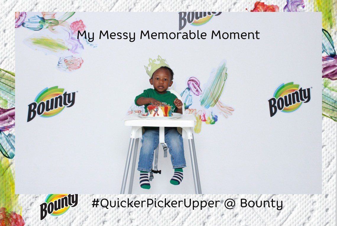 Caydens Messy Memorable Moment with Bounty paper towels
