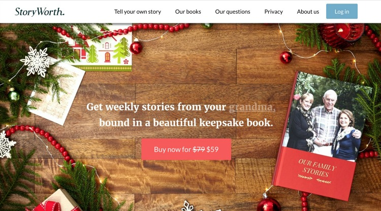 StoryWorth: The Perfect Gift For The Person Who Has Everything